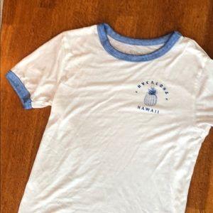 RVCA AlOHA Hawai'i ringer tee shirt